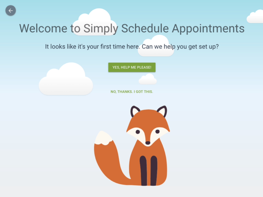 Simply Schedule Appointments setup