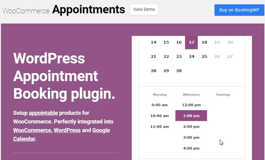 WooCommerce Appointment by Bizzthemes
