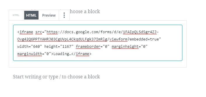 HTML area