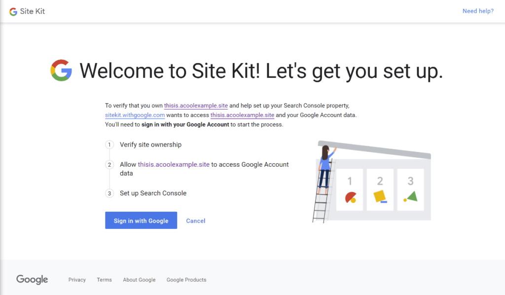 Google Site Kit website