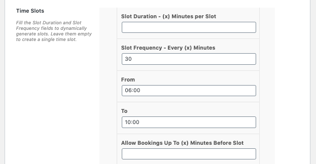 Time Slots
