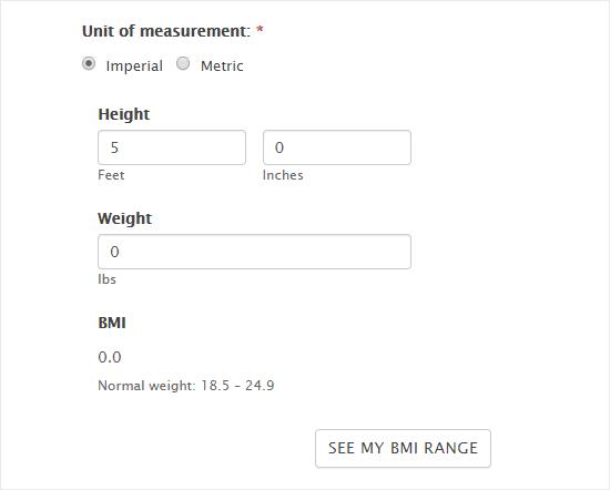 finished BMI calculator