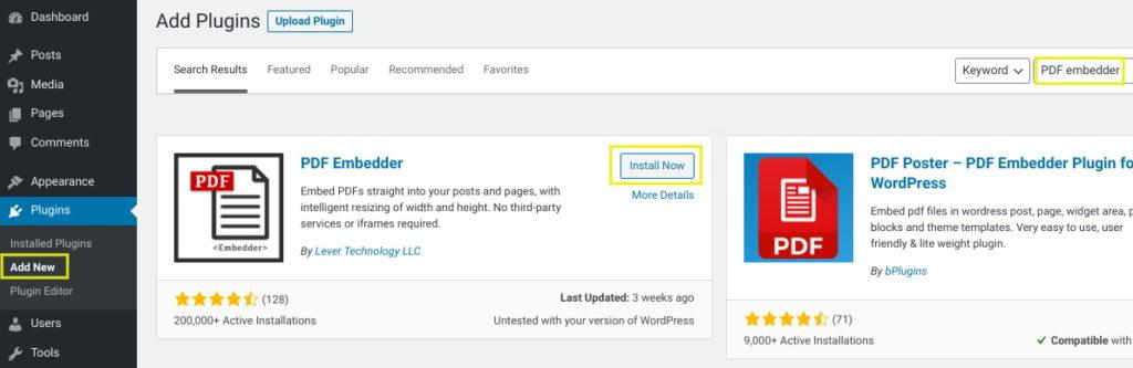 install pdf embedder