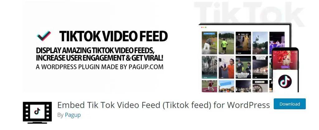 Embed TikTok Video Feed