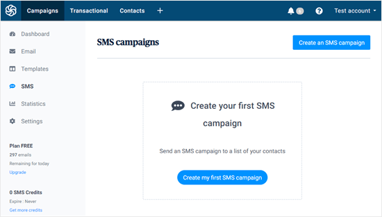 Create my first SMS campaign