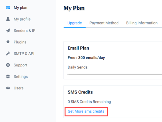 Get More SMS Credits