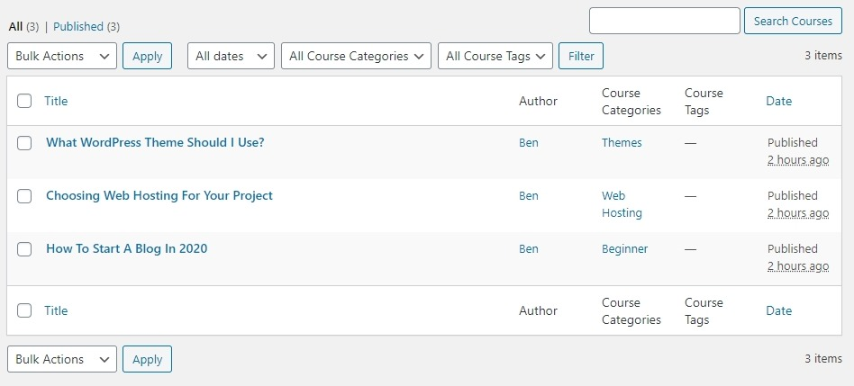 Creating Course Content