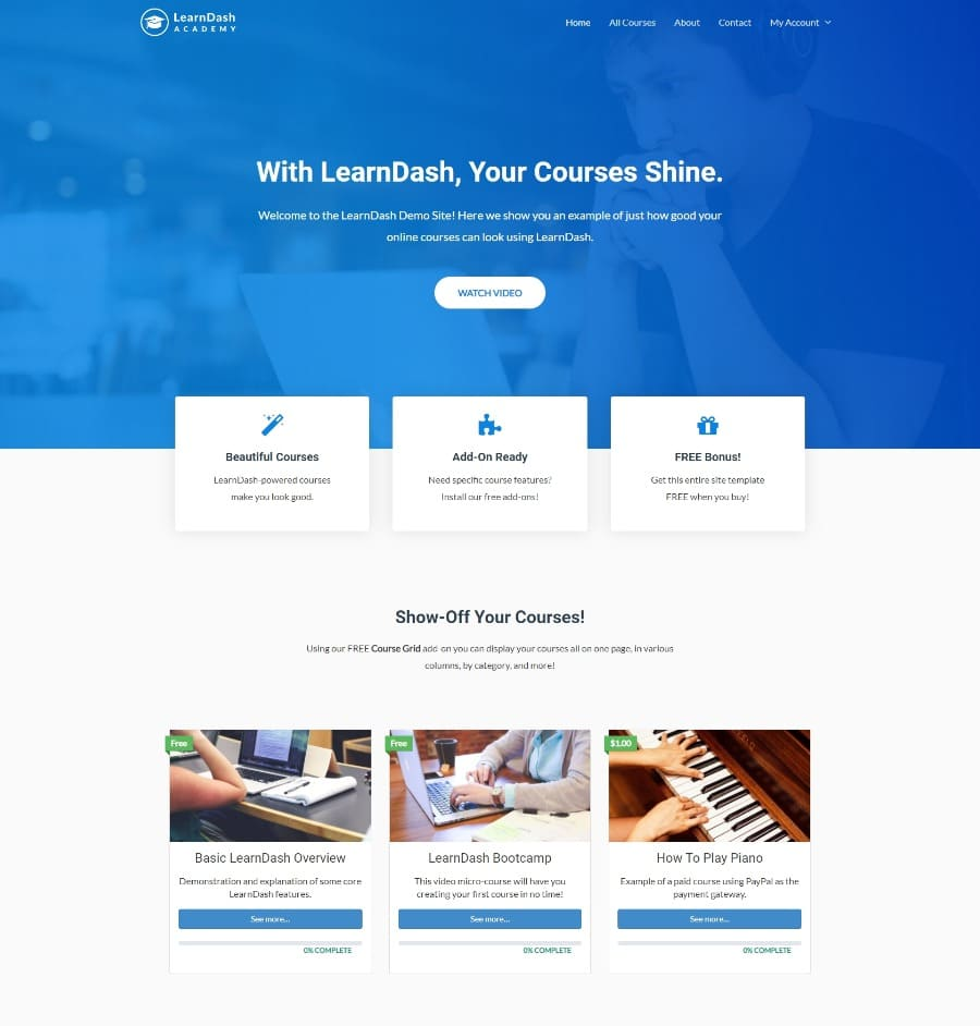 LearnDash Academy Template