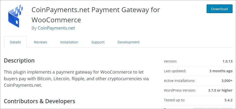 CoinPayments.net Payment Gateway for WooCommerce