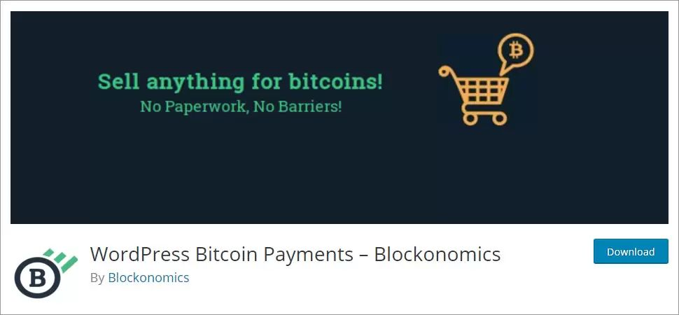Blockonomics WordPress Bitcoin Payments