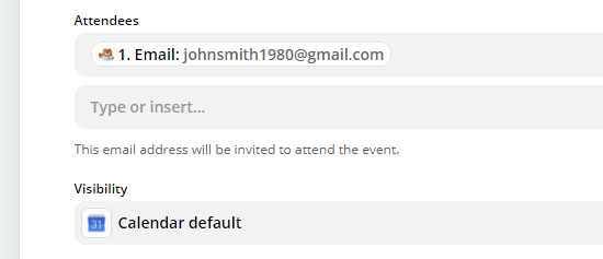 include the email address