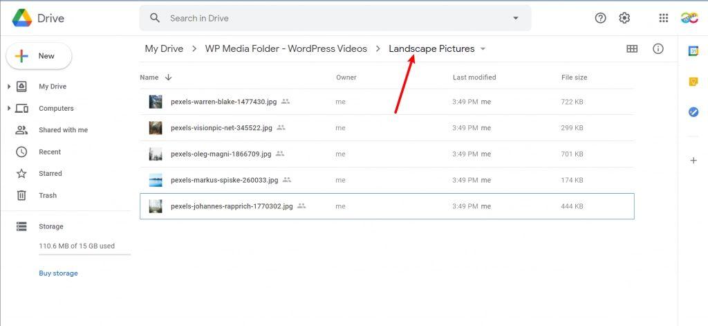 files in sub-folder
