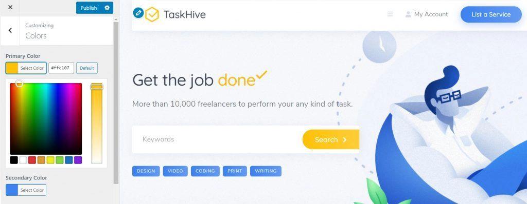 Customizing TaskHive