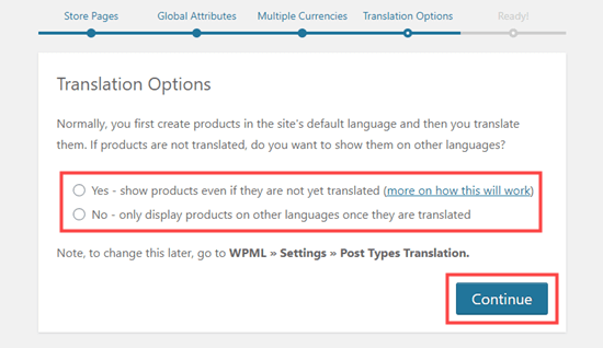 Translation Options