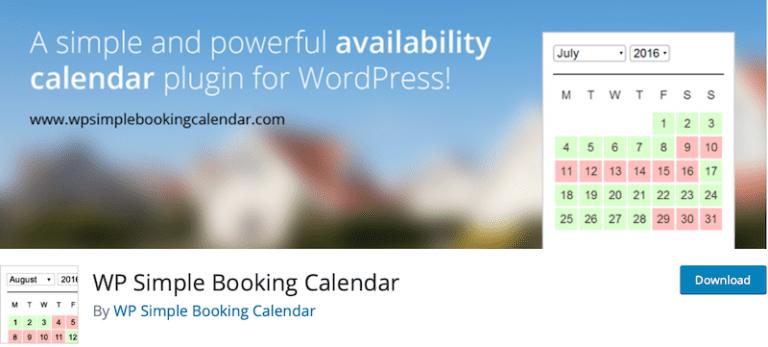 WP Simple Booking Calendar1