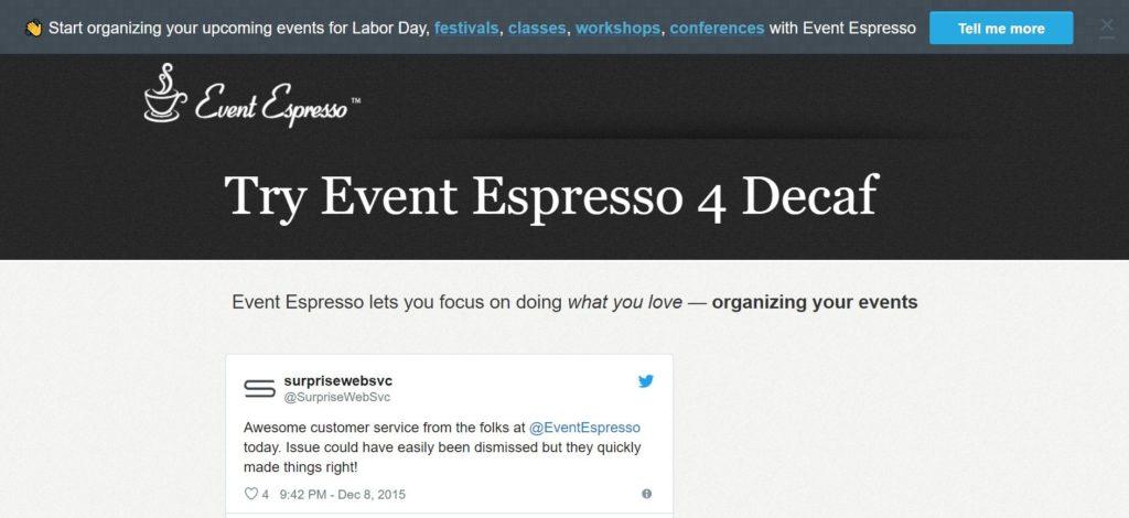 Event Espresso—Decaf