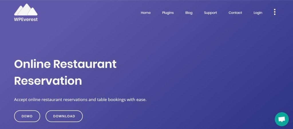 Online Restaurant Reservations